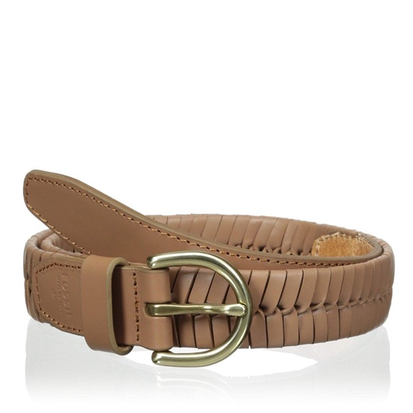 Fossil Accessories - NWT Fossil Camel Leather Braided Belt Medium